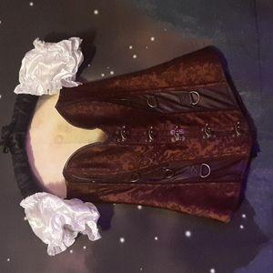EUC Victorian/steampunk corset, large